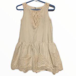 Zara girls white eyelet lace dress